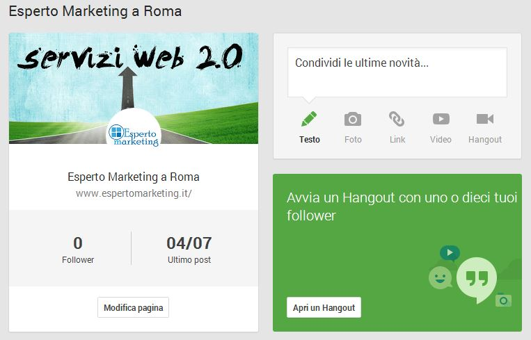 Esperto Marketing Google+